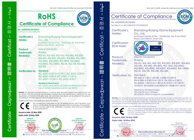 公司获CE认证证书